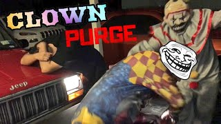 YOUTUBER NEARLY KILLED IN CAR ACCIDENT! 2 CREEPY CLOWNS UNMASKED!