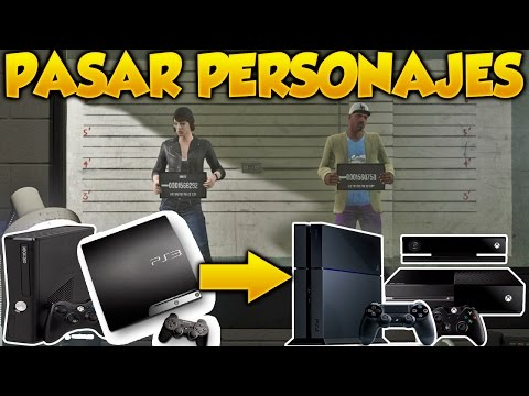 GTA 5 Online Como Pasar Personajes de PS3 Xbox 360 A PS4 y Xbox One Grand Theft Auto V Online