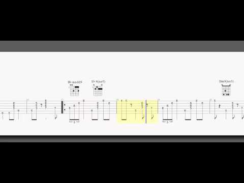Guitar Tab - Jazz - Night In Tunisia - Chord Melody - A And B Part