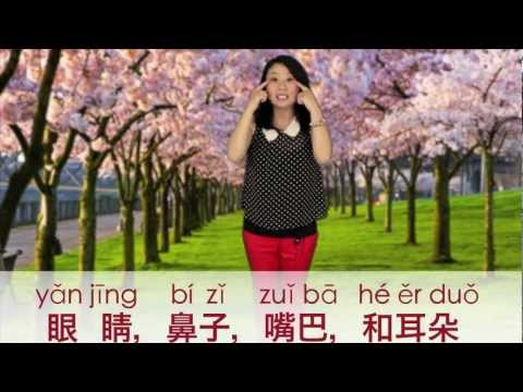 Learn head, Shoulders, Knees, And Toes In Mandarin Chinese! video