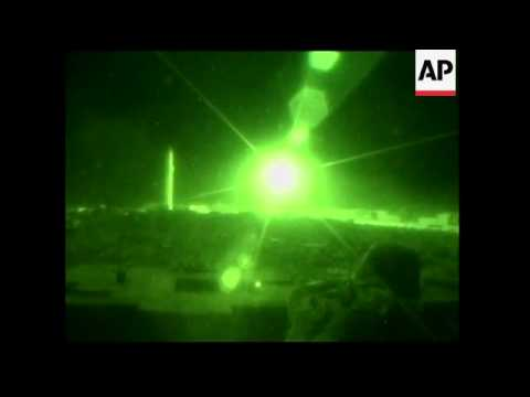 Dramatic night footage of fighting in Fallujah - 2004