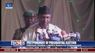 Weather, Logistics Reason For Postponement - INEC Chairman