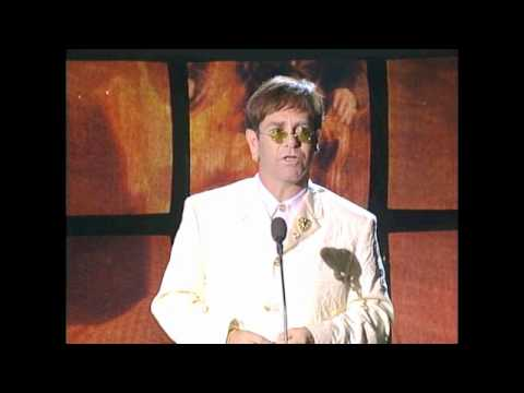 Elton John Accepts Hall of Fame Award at 1994 Inductions