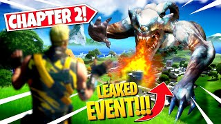 *NEW* CHAPTER 2 ENDING EVENT *LEAKED* IN FORTNITE SEASON FINALE! ALL DETAILS & LEAKS!