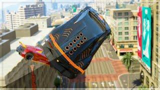 Super Cars City Jumps (GTA 5 Funny Moments)