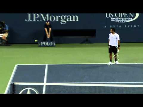 GRF : Roger Federer Moments --- Shot between the legs US Open 2010