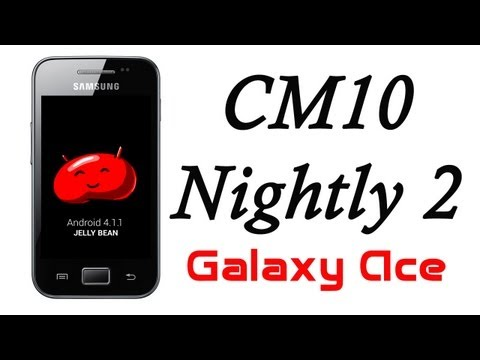 Jelly Bean Android 4.1.1 para Galaxy Ace [CM10 08-09-12] HD