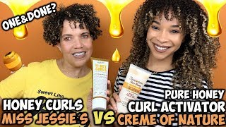 Creme of Nature Pure Honey Curl Activator VS Miss Jessie's Honey Curls | Do They Compare?