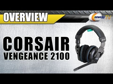Corsair Vengeance 2100 Circumaural Wireless Dolby 7.1 Gaming Headset Overview - Newegg TV