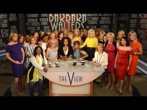 Barbara Walters Last The View Oprah Surprise +many stars