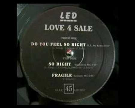Love 4 Sale - Do You Feel So Right - LED Records