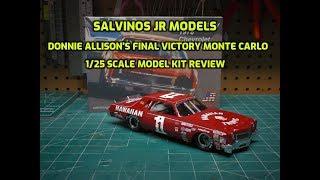Salvinos JR Models Donnie Allison Final Victory Monte Carlo 1978 1/25 Scale Model Kit Build Review