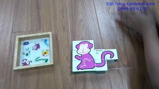 Đồ chơi ghép hình động vật dễ thương cho bé
