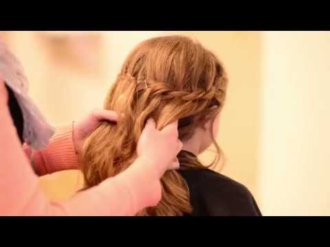 Communion Hair Tutorial: Waterfall Braid