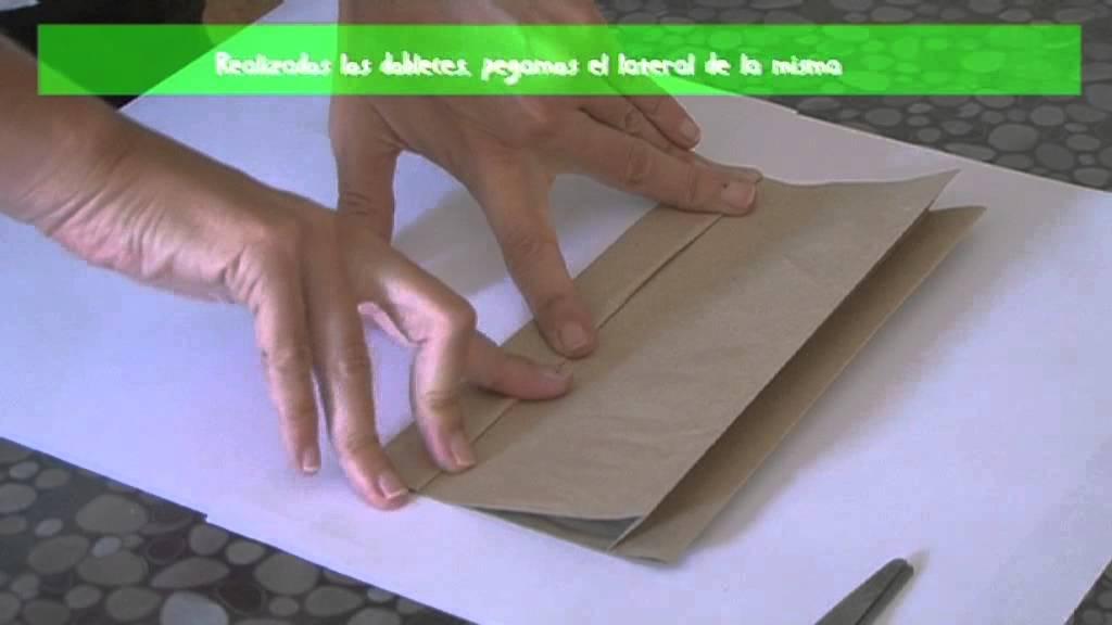 Bolsas de papel gu a infantil el arca de tiza youtube - Hacer bolsas de papel en casa ...