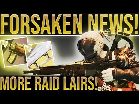 Destiny 2 News. MORE RAID LAIRS! Forsaken DLC, Annual Pass Explained, Development Roadmap & More! thumbnail