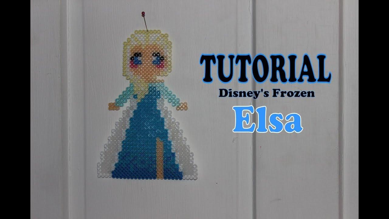 Tutorial Disney S Frozen Elsa Perler Beads Diy Youtube