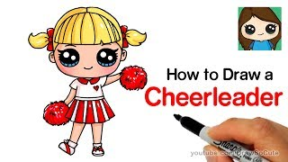 How to Draw a Cute Cheerleader Easy | LOL Surprise Doll