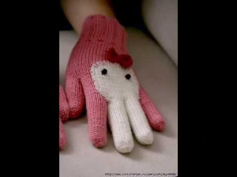 """Как связать теплые перчатки """"Зайчики"""""""