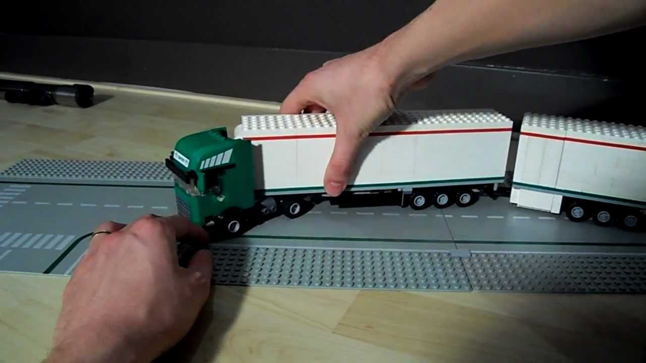 lego scania r730 truck with 2 trailers with coolant