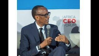 Uganda Land Locking Rwanda: President Kagame talking to ACEO Forum 2019.