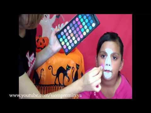 Watch como pintar la cara face painting ideas maquillaje - Pinturas para halloween ...