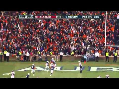 Alabama Missed Field Goal, Returned for Auburn Game Winning Touchdown