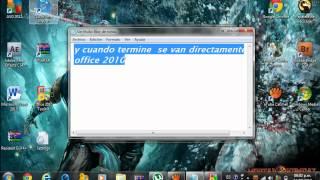 como validar licencia del MICROSOFT OFFICE 2010