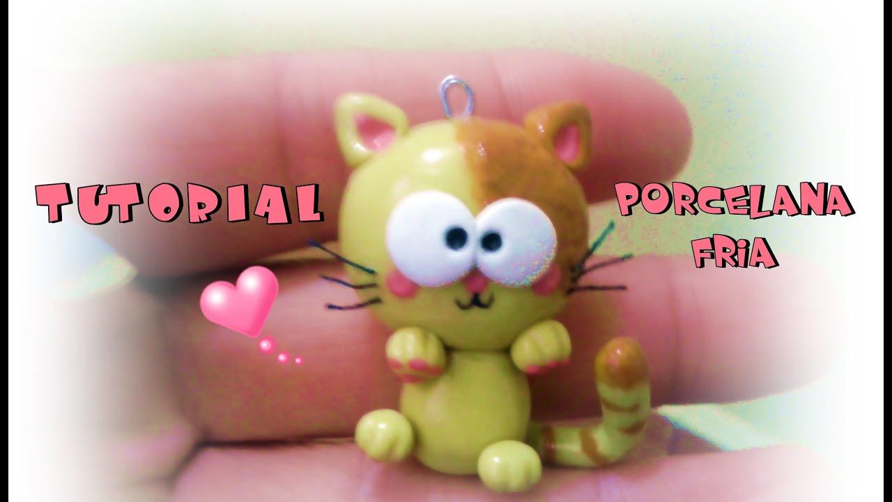 gatito de PORCELANA FRIA Tutorial= ^ - ^ = - YouTube