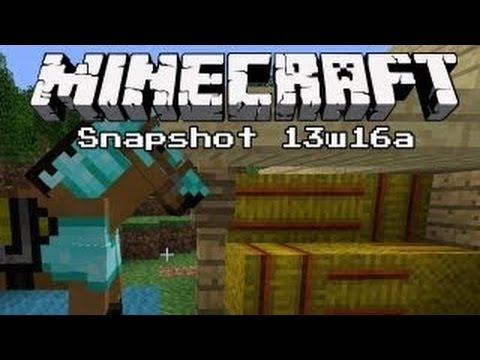 #Minecraft 1.6 Update News   13w16a Snapshot - Horses. carpet and more!