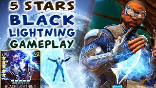 Injustice 2 Mobile. 5-STARS Black Lightning Gameplay / Review. Is He Good Against Brainiac Hazards?