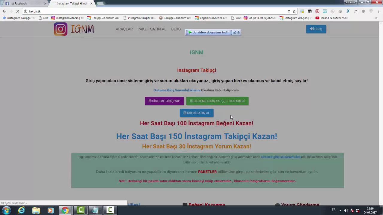 İnstagram +10000 takipçi hilesi - YouTube