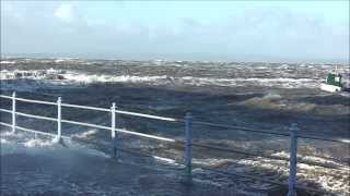 Morecambe Storm & Floods, Footage from Bare to West End 5th December 2013