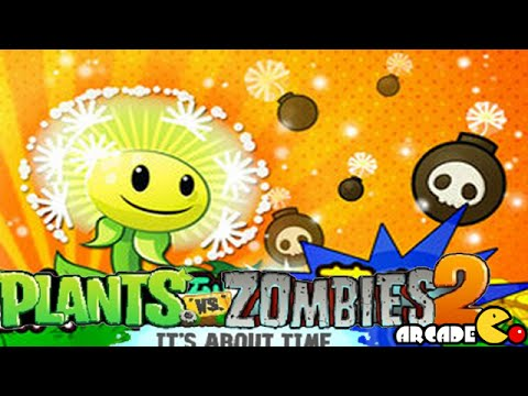 Plants Vs Zombies 2: New Plants Dandelion Team Up Carrot Launcher China Version