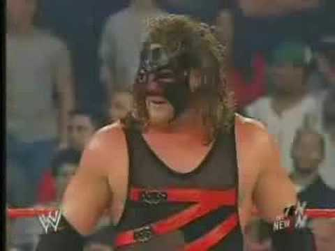 kane unmasking for the first time