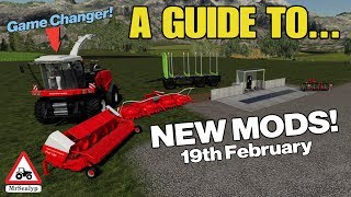 A Guide to... NEW MODS! Tuesday 19th February. Farming Simulator 19, PS4, Assistance!