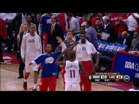 Jamal Crawford's crossover & SICK bank shot!