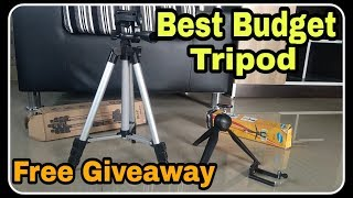 Best Budget Tripod - FREE GIVEAWAY - Cheap Budget Tripod for youtube and Photography  - 2018