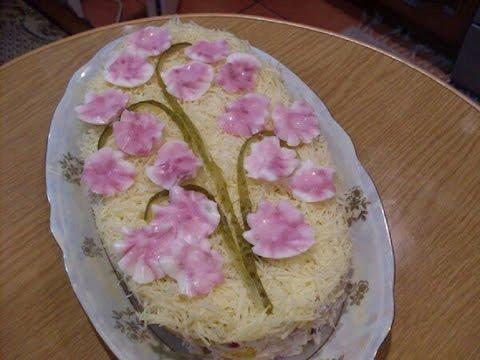 Салат сакура рецепт пошагово в