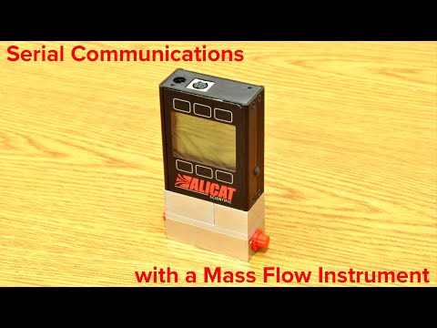 Serial communication with an Alicat Scientific mass flow device