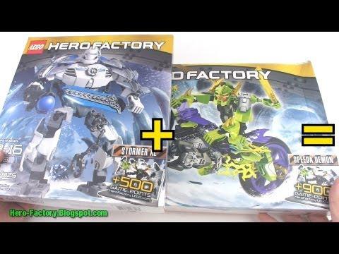 Hero Factory Stormer XL + Speeda Demon combiner Speed Build (Breakout wave 2)