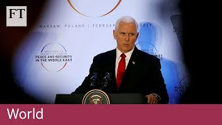 Mike Pence urges EU to withdraw from Iran nuclear deal