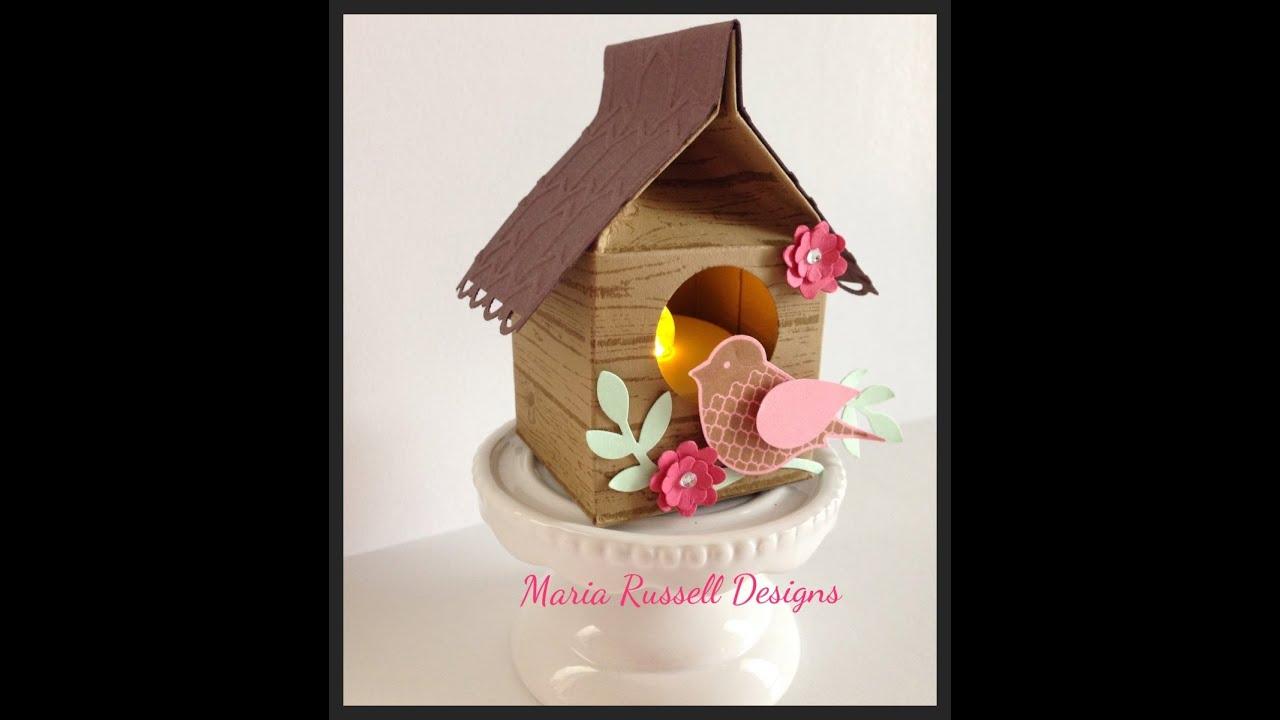Birdhouse Tea Light Holder Diy Mini Milk Carton Youtube
