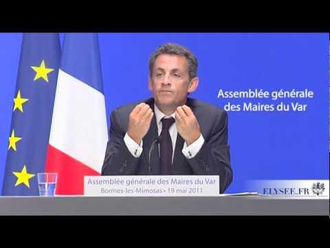 Nicolas Sarkozy à l'assemblée générale des maires du Var