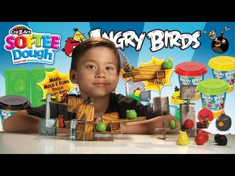 Angry Birds Softee Dough Figure Maker Playset Review video