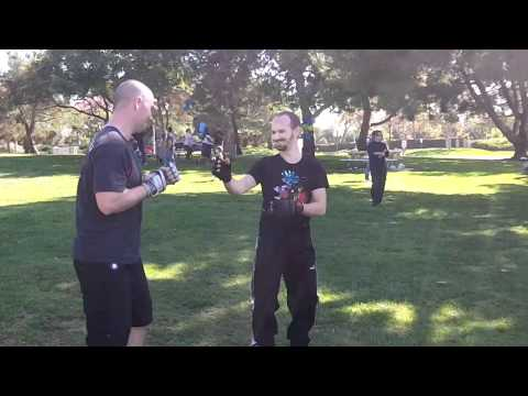 Samurai vs Muay Thai Boar Bando at Open Martial Arts Meetup Image 1