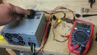 12v power supply, reused / modified computer power supply.