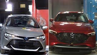 2019 Mazda 3 vs 2019 Toyota Corolla – Crash tests