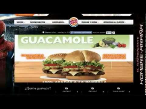 Burger King's digital presence in Latin America and the Caribbean