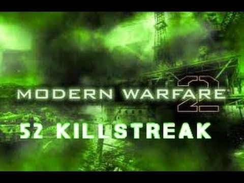 MW2 - 52 killstreak gameplay w/ commentary (No Chopper Gunner / AC-130)